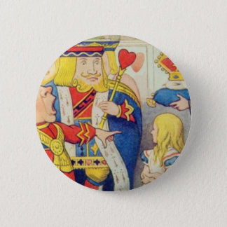 Alice and the Queen of Hearts 2 Inch Round Button