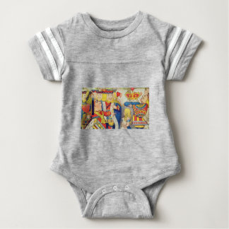 Alice and the Queen of Hearts Baby Bodysuit