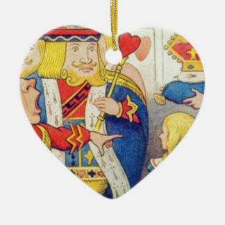 Alice and the Queen of Hearts Ceramic Ornament