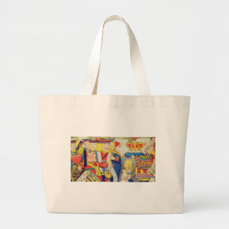 Alice and the Queen of Hearts Large Tote Bag