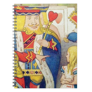Alice and the Queen of Hearts Notebook