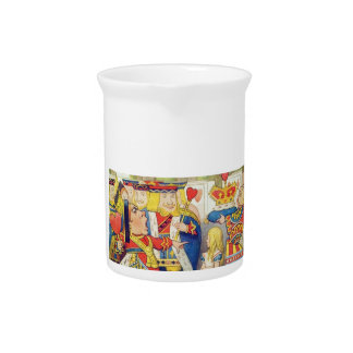 Alice and the Queen of Hearts Pitcher
