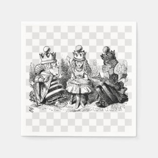 Alice and the Queens Disposable Napkin