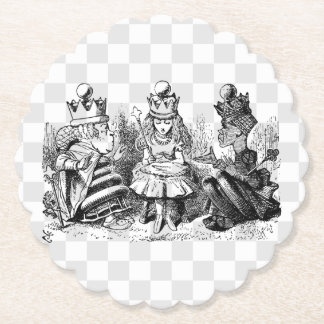 Alice and the Queens Paper Coaster