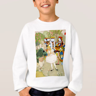 Alice and the Rabbit in the Queen of Hearts' Court Sweatshirt