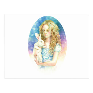 Alice and the Rabbit Postcard