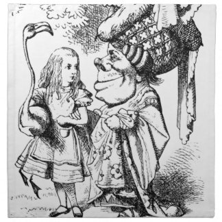 Alice and the Red Queen Napkin