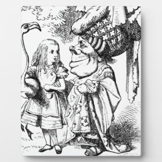 Alice and the Red Queen Plaque