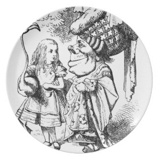 Alice and the Red Queen Plate