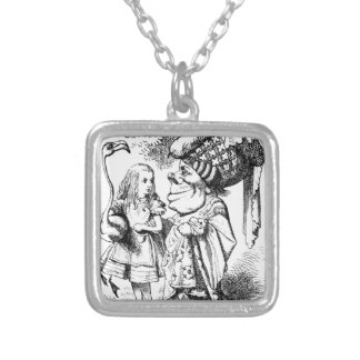 Alice and the Red Queen Silver Plated Necklace