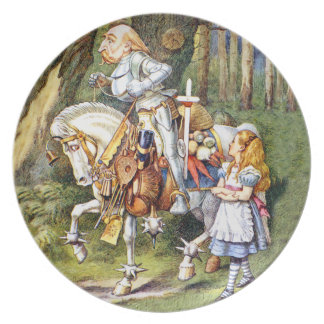 Alice and the White Knight in Wonderland Plate