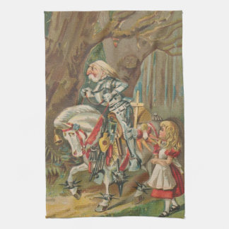 Alice and the White Knight Kitchen Towel