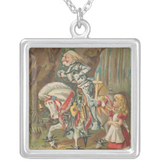 Alice and the White Knight Silver Plated Necklace