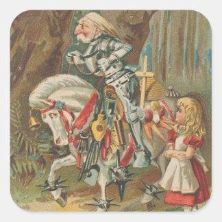Alice and the White Knight Square Sticker