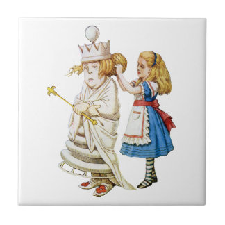Alice and the White Queen in Wonderland Tile