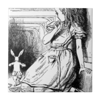 Alice and the White Rabbit Tile