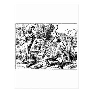 Alice and Tweedle Dee and Tweedle Dum Postcard
