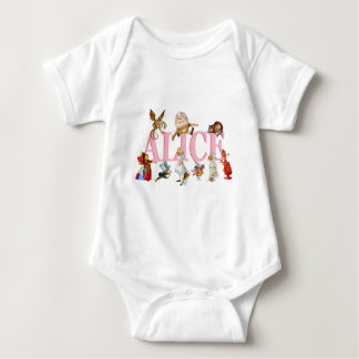 Alice and Wonderland and Friends. Baby Bodysuit