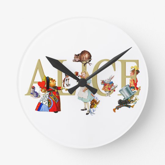 Alice and Wonderland and Friends Wall Clocks