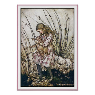 Alice and Wonderland - Pig & Pepper by Rackham Poster