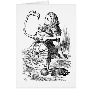Alice at the Croquet Game Card