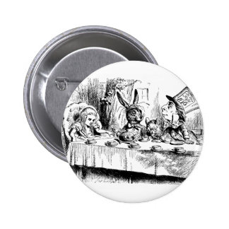 Alice at the Mad Tea Party 2 Inch Round Button