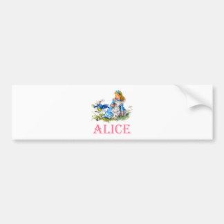 ALICE AU PAYS DES MERVEILLES AUTOCOLLANT DE VOITURE