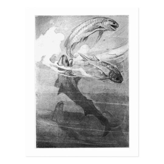 Alice B. Woodward: Devonian Sharks art postcard