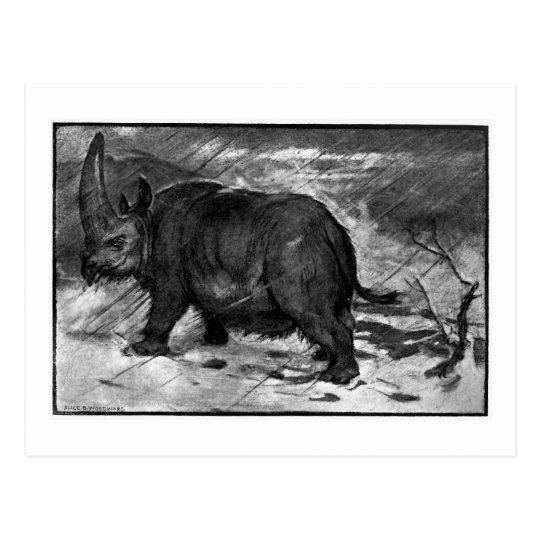 Alice B. Woodward: Elasmotherium art postcard