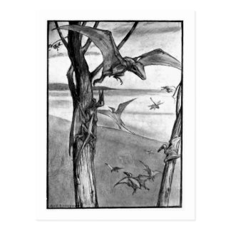 Alice B. Woodward: Flying Lizards art postcard