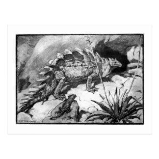 Alice B. Woodward: Stegosaurus art postcard