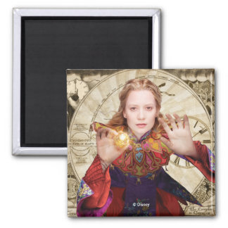 Alice   Believe the Impossible Square Magnet