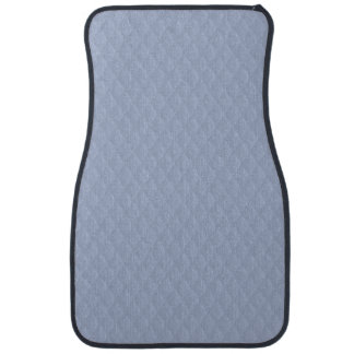 Alice Blue Diamond Quilted Stitched Pattern Car Floor Carpet