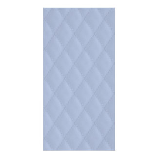 Alice Blue Diamond Quilted Stitched Pattern Photo Card