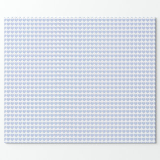 Alice Blue Hearts in an English Country Garden Wrapping Paper