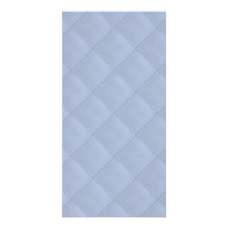 Alice Blue Square Quilted Stitched Pattern Photo Card