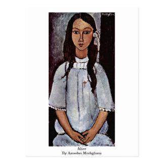 Alice By Amedeo Modigliani Postcard