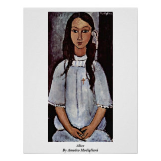 Alice By Amedeo Modigliani Poster
