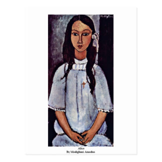 Alice By Modigliani Amedeo Postcard