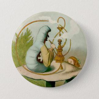 "Alice-Caterpillar w/ Hooka - 3"" Button"