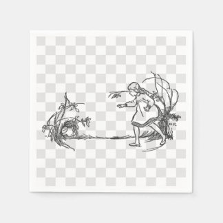Alice Chasing the Rabbit Disposable Napkin