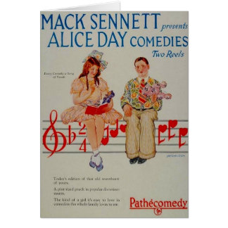 Alice Day comedies 1926 ad greeting card