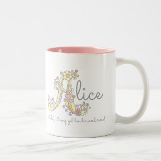 Alice decorative name and meaning mug