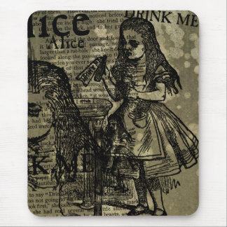 Alice Drink Me Collage Mouse Pad