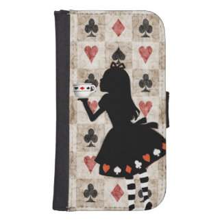 Alice Drinking Tea Samsung S4 Wallet Case