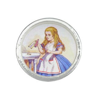 Alice Drinks in Full Color Photo Ring