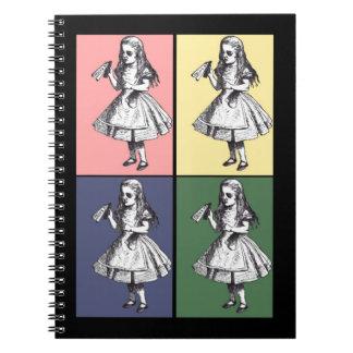 Alice Drinks Pop Art Notebook