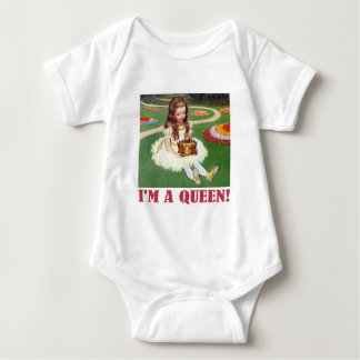 "Alice exclaims, ""I am a Queen!"" Baby Bodysuit"