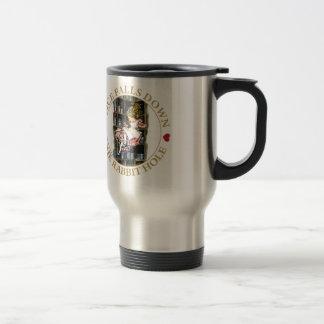 Alice Falls Down the Rabbit Hole to Wonderland Travel Mug