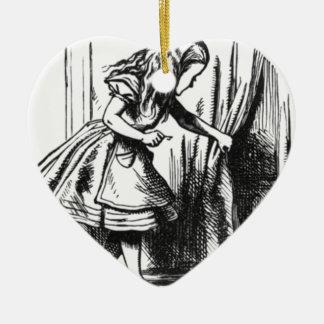 Alice Finds a Door Ceramic Ornament